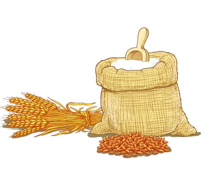 svg royalty free stock Cereal clip art hand. Wheat flour clipart