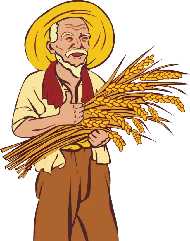 png free library Wheat straw clipart. Farmer agriculture clip art