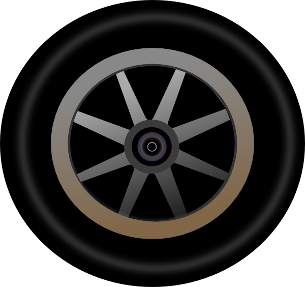 graphic library Wheel clipart. Clip art at clker.
