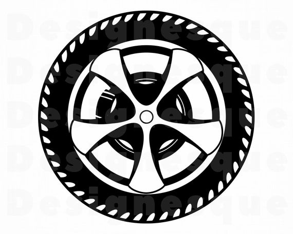 clip art transparent stock Svg car tire files. Wheel clipart.