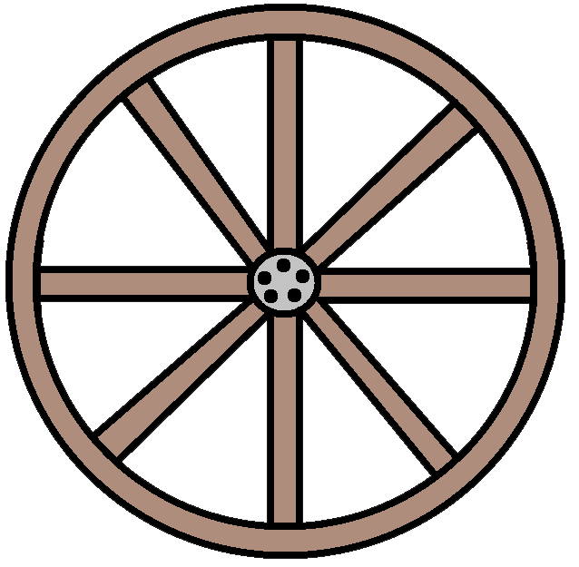 vector black and white library Png black and white. Wagon wheel clipart
