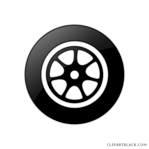 picture transparent download Car clipartblack com transportation. Wheel clipart black and white