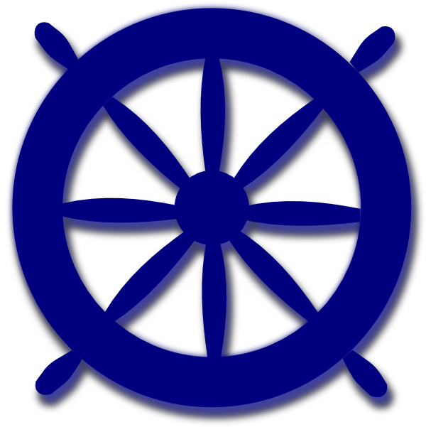 vector library stock Blue ships clip art. Boat wheel clipart