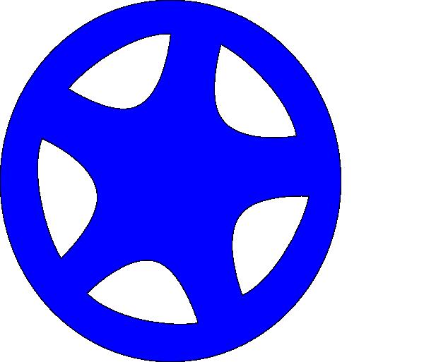 svg transparent Clip art at clker. Wheel clipart blue