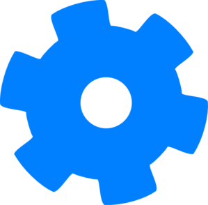picture freeuse download Blue Cog Clip Art at Clker