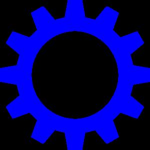 vector freeuse stock Cog clip art at. Wheel clipart blue