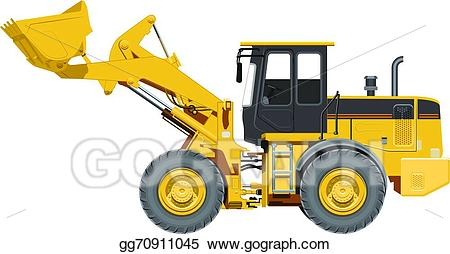 clipart Wheel loader clipart. Vector stock big illustration