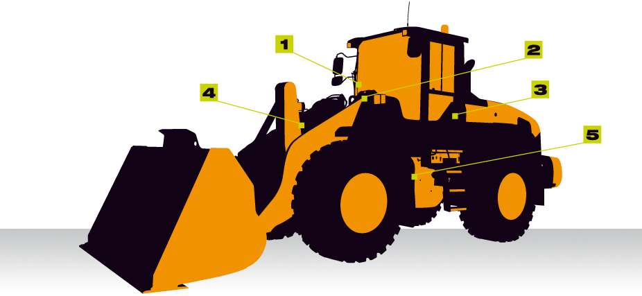 vector free Wheel loader clipart. Weighing on wheeled vei