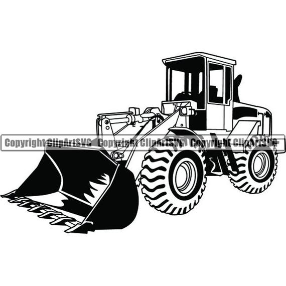 image free Construction vehicle front bulldozer. Wheel loader clipart