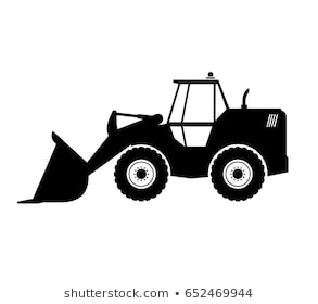 svg black and white library Portal . Wheel loader clipart