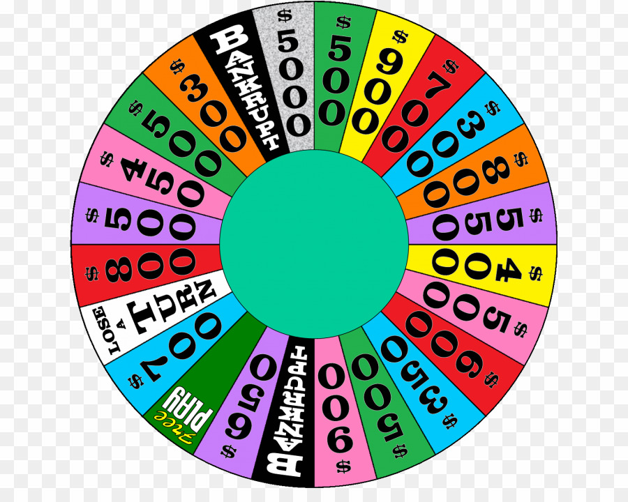 clipart Template png game show. Wheel of fortune clipart