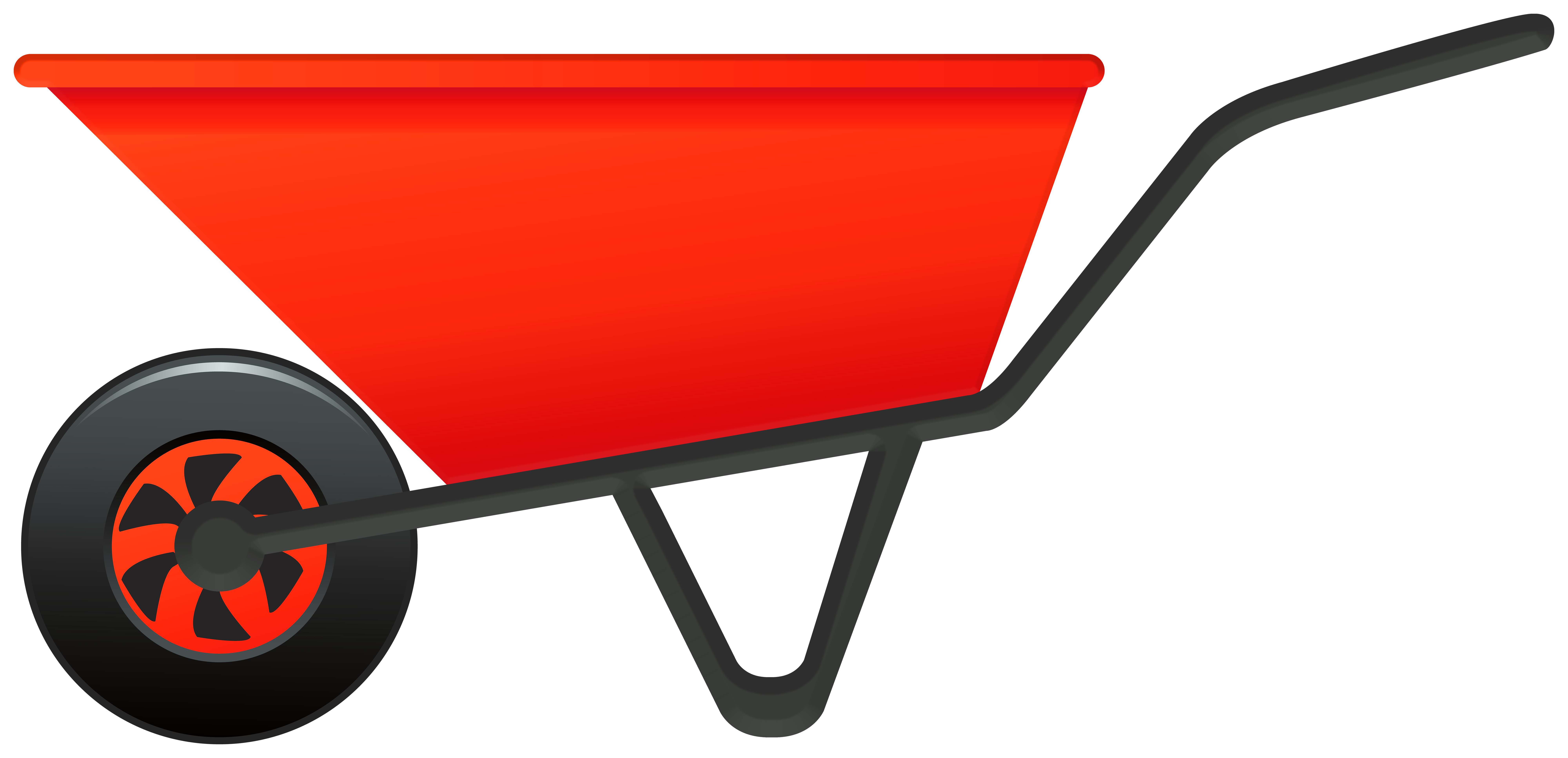 graphic freeuse download Wheelbarrow clipart. Red png gallery yopriceville.