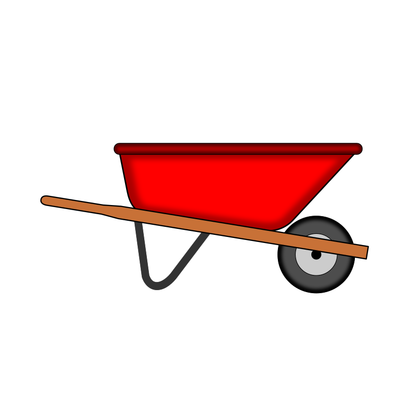 svg free download Red wheelbarrow medium image. Carts clipart bandwagon.