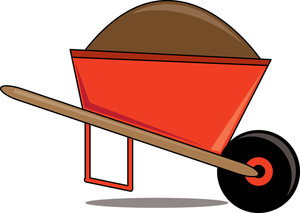 picture royalty free library Panda free images . Wheelbarrow clipart.