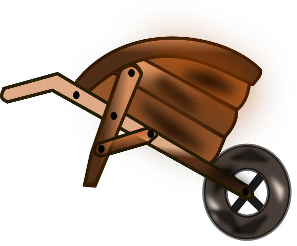 graphic transparent Clip art at clker. Wheelbarrow clipart