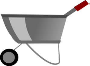 clip transparent Clip art at clker. Wheelbarrow clipart