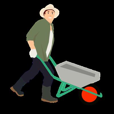 vector royalty free Product cartoon vehicle clip. Wheelbarrow clipart construction worker tool