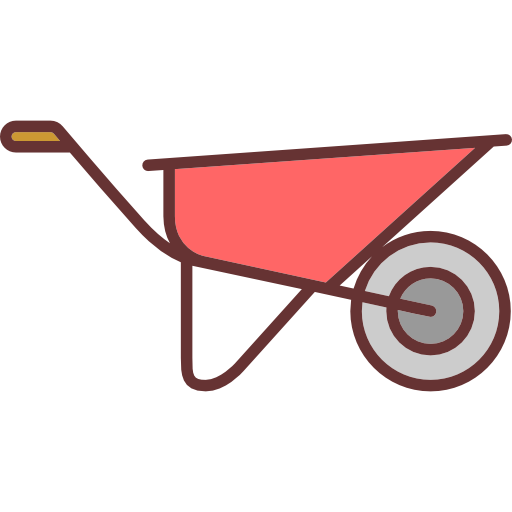 clip transparent stock Wheelbarrow clipart construction worker tool. Icon page.