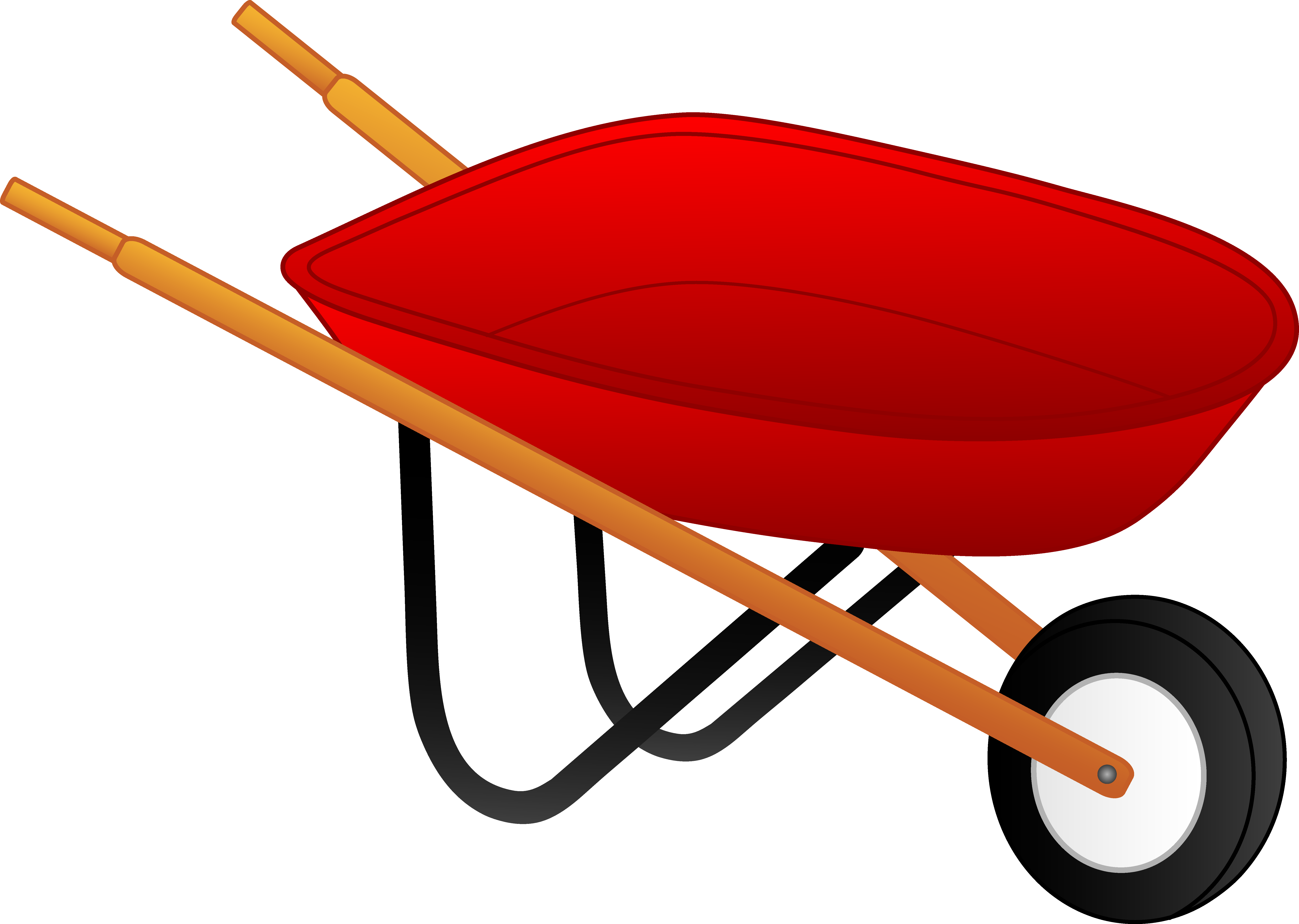png freeuse library In person with wheelbarrow. Wheel barrow clipart