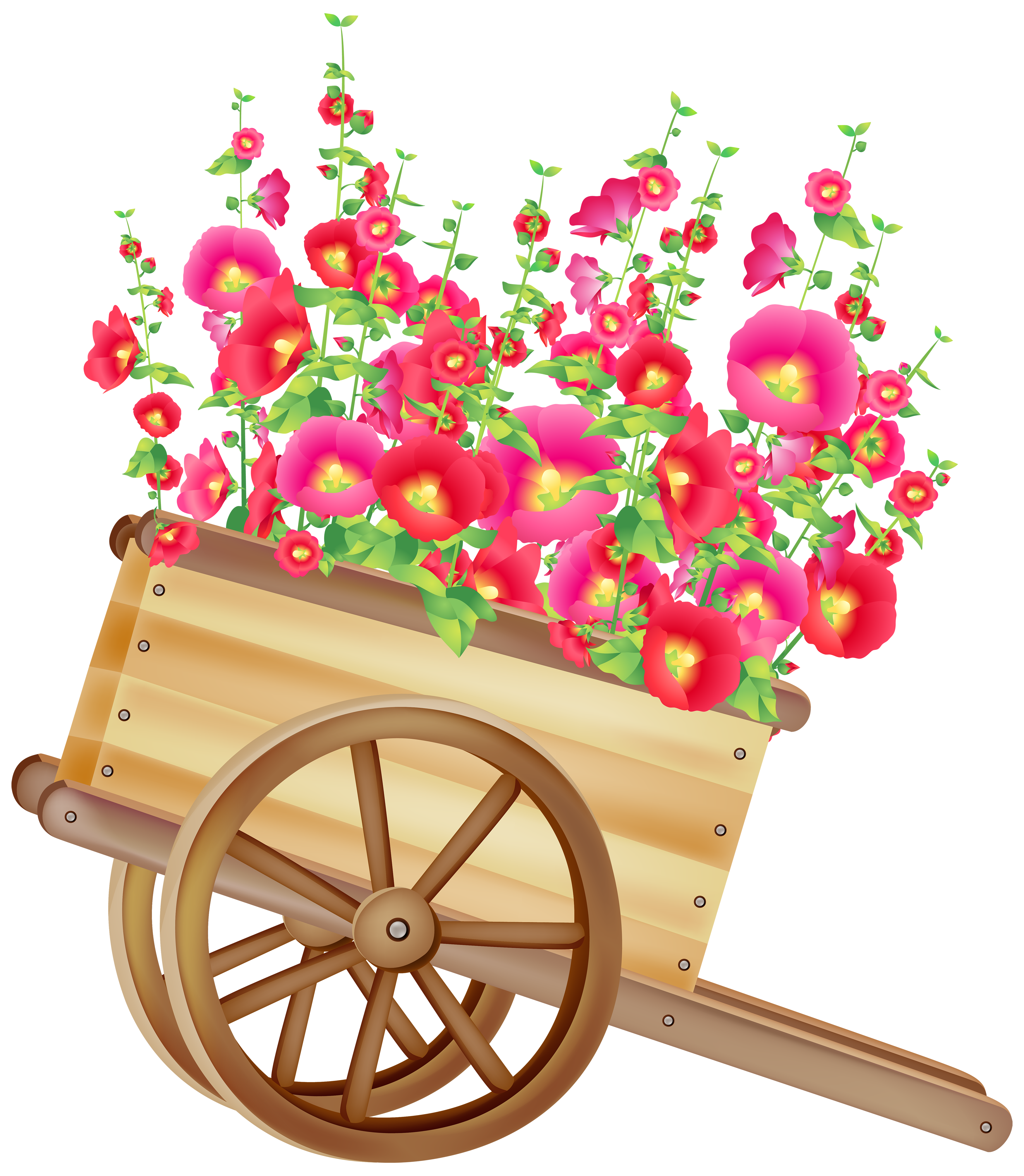 picture transparent stock Wheelbarrow clipart flower plant. With flowers png best