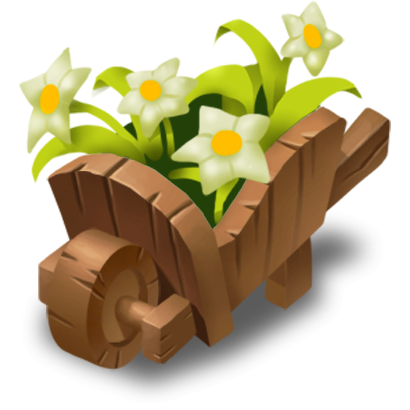 clip art Wheelbarrow clipart flower plant. Image png hay day