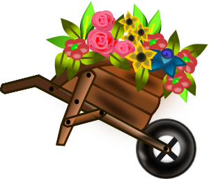 image royalty free stock Clip art at clker. Wheelbarrow clipart flower plant