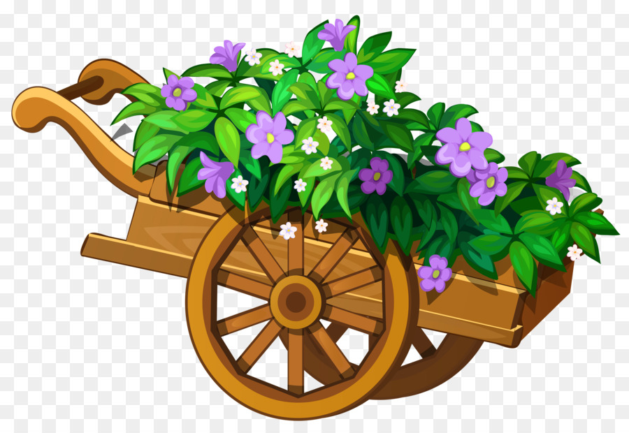 jpg royalty free library Floral background . Wheelbarrow clipart flower plant