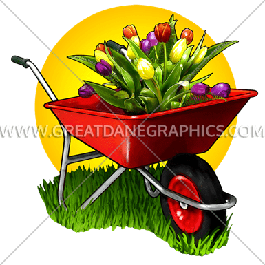 graphic library download Production ready artwork for. Wheelbarrow clipart flower plant
