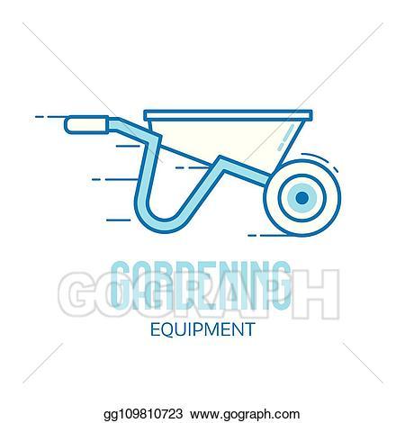 graphic royalty free Wheelbarrow clipart garden cart. Vector art icon drawing