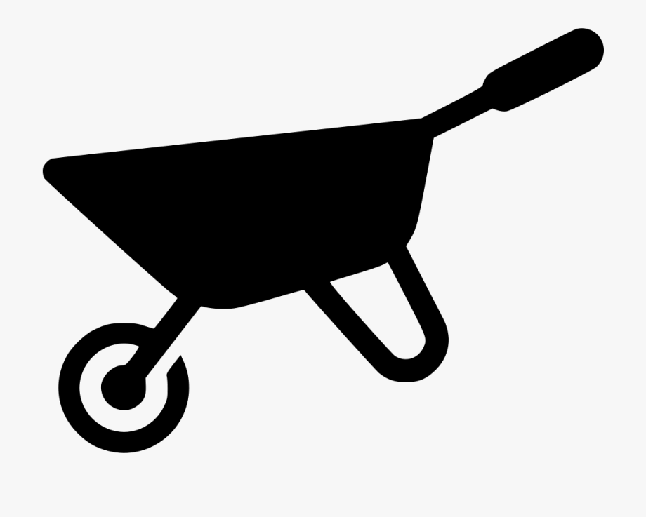royalty free Comments yard work icon. Wheelbarrow clipart garden cart.