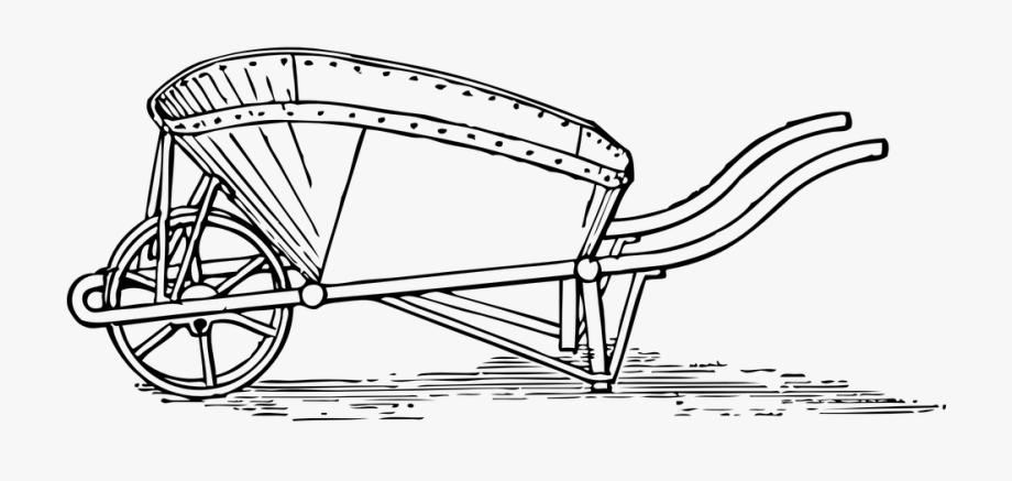 png royalty free download Barrow colouring pages of. Wheelbarrow clipart garden cart