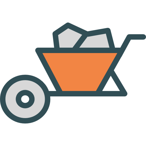 svg black and white Trolley construction gardening tools. Wheelbarrow clipart garden cart