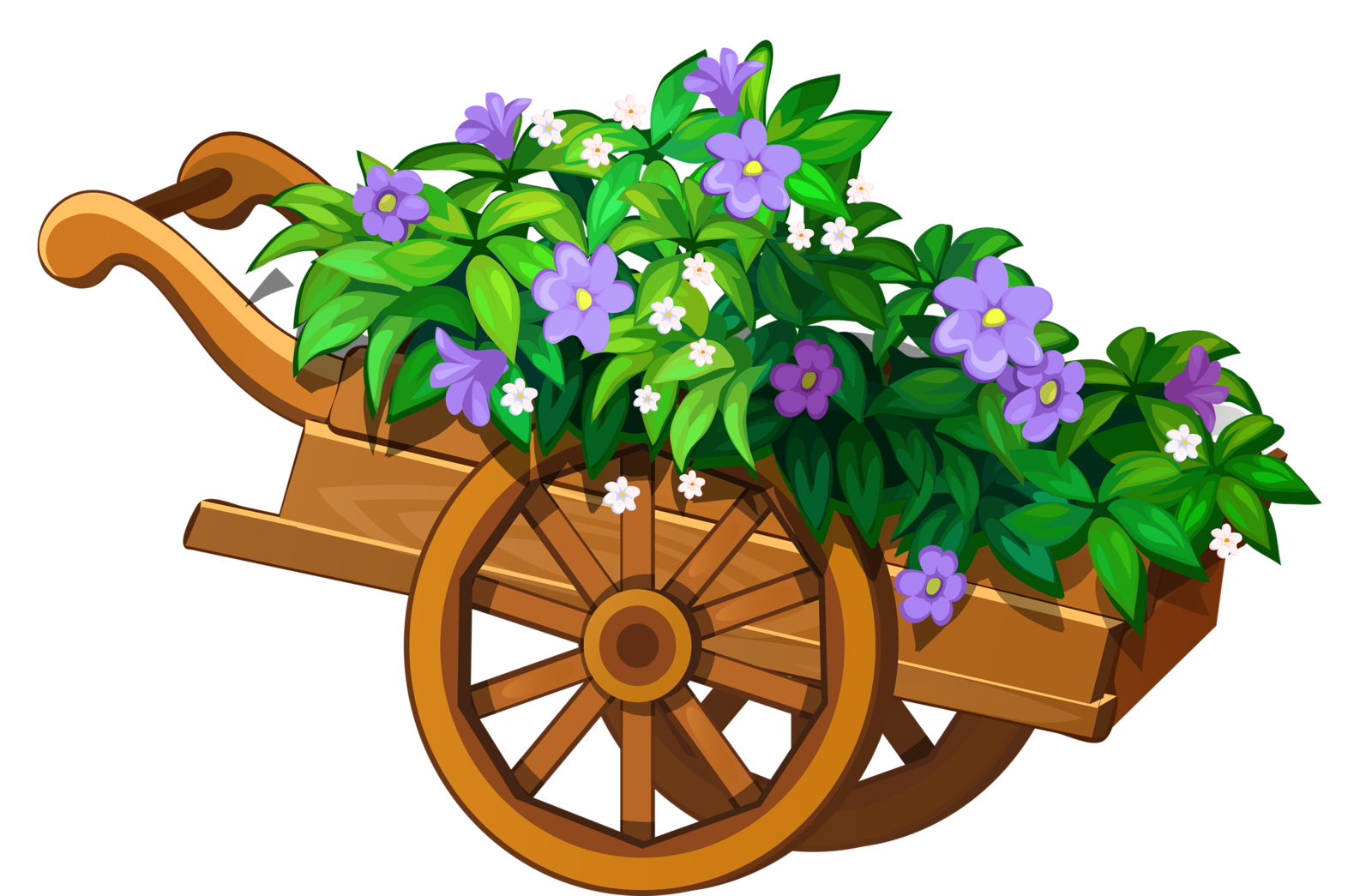 freeuse stock wheelbarrow clipart garden cart #53294277