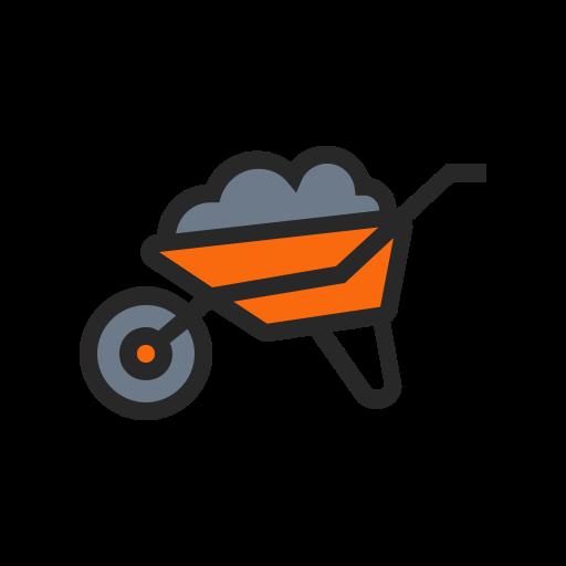 vector black and white library Gardening farming and trolley. Wheelbarrow clipart garden cart