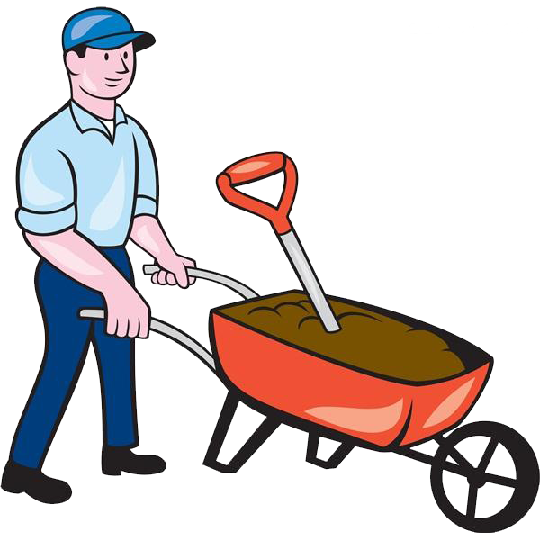 clip art black and white stock Wheelbarrow clipart red object. Cartoon royalty free clip