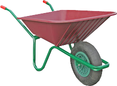 image transparent stock  arana my cute. Wheelbarrow clipart red object