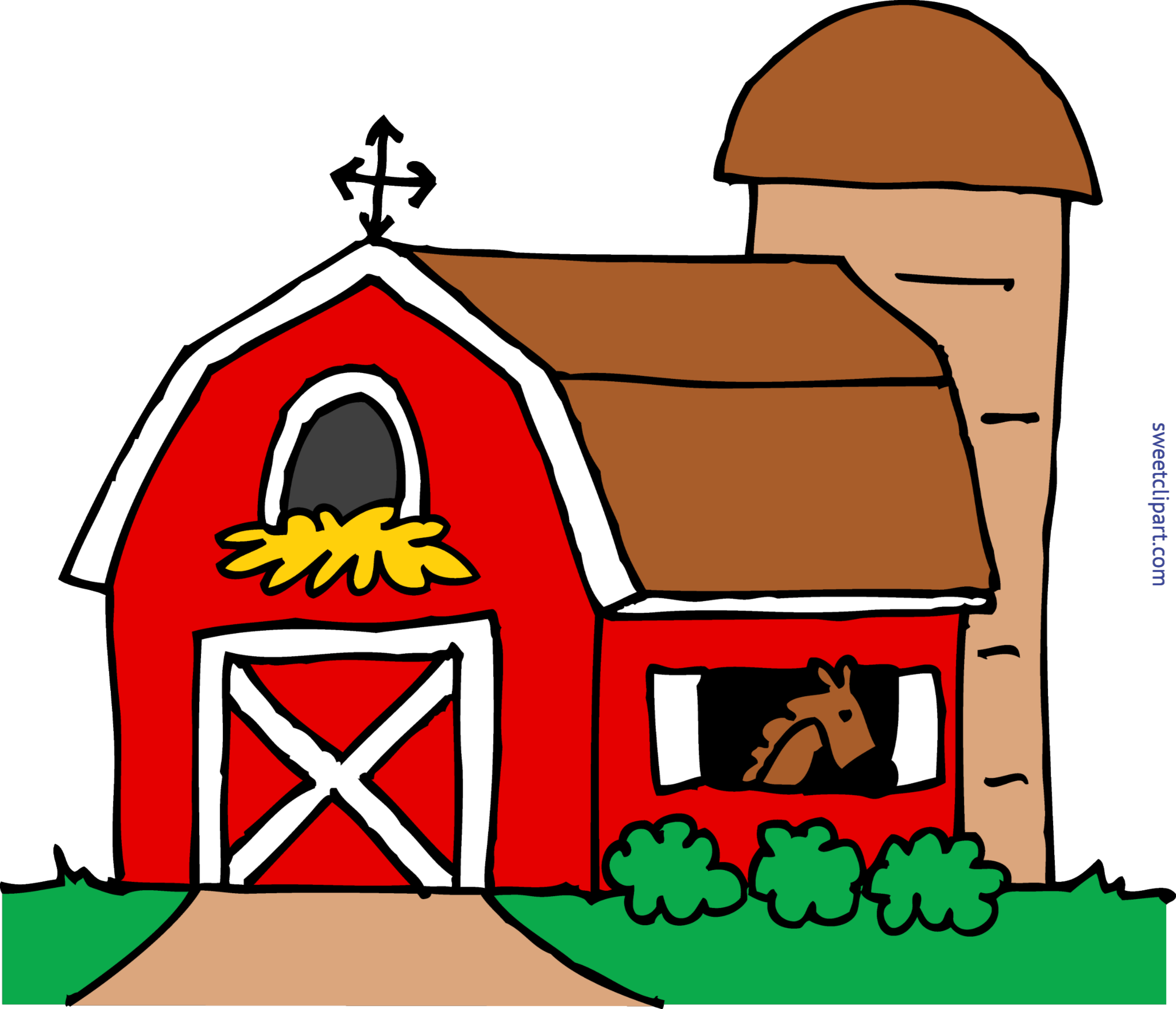 transparent download Cute barn clip art. Wheelbarrow clipart red object