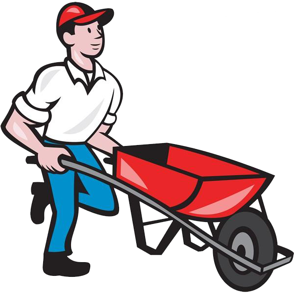 graphic transparent library Wheelbarrow clipart red object. Cartoon images gallery for.
