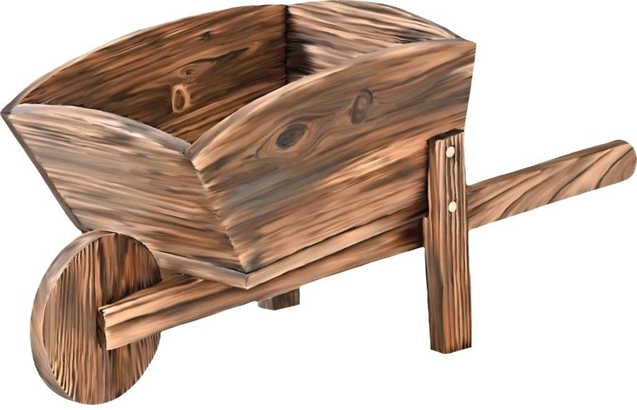 png freeuse download Wheel barrow toy wood. Wheelbarrow clipart rustic wooden