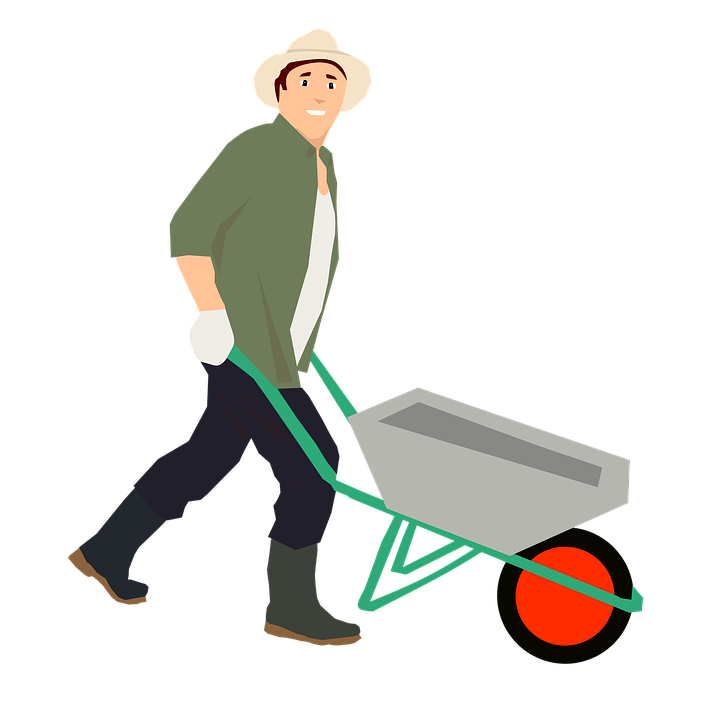 jpg library stock Wheelbarrow clipart transparent background. Farmer png image purepng.