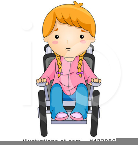 svg freeuse Free child in images. Wheelchair kids clipart