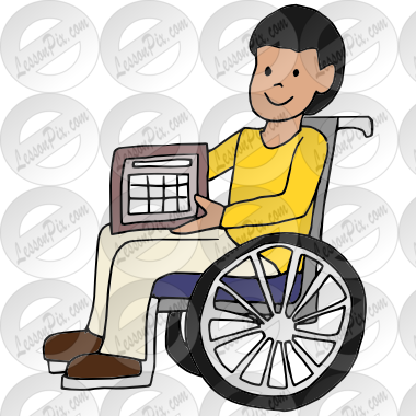 banner royalty free download Aac picture for classroom. Wheelchair kids clipart