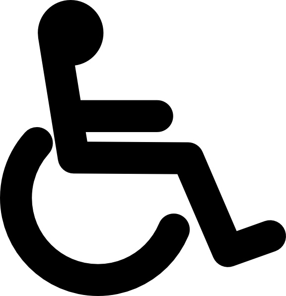 vector transparent library Free download for . Wheelchair vector black and white.