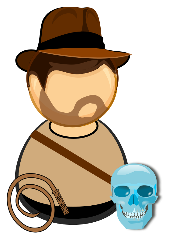 clip art freeuse library Whip clipart. Adventurer in a hat