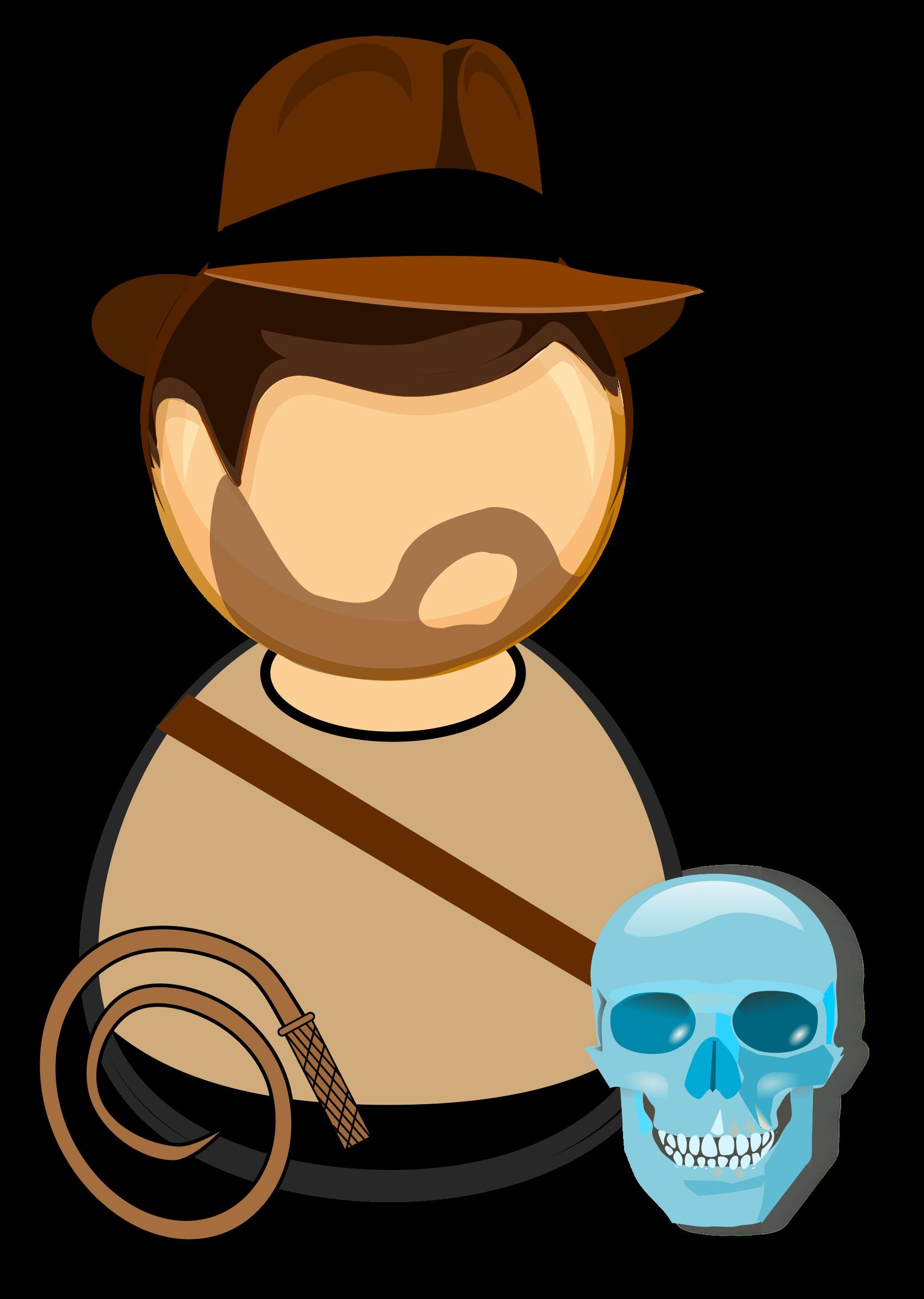 vector transparent download Adventurer in a hat. Whip clipart cartoon