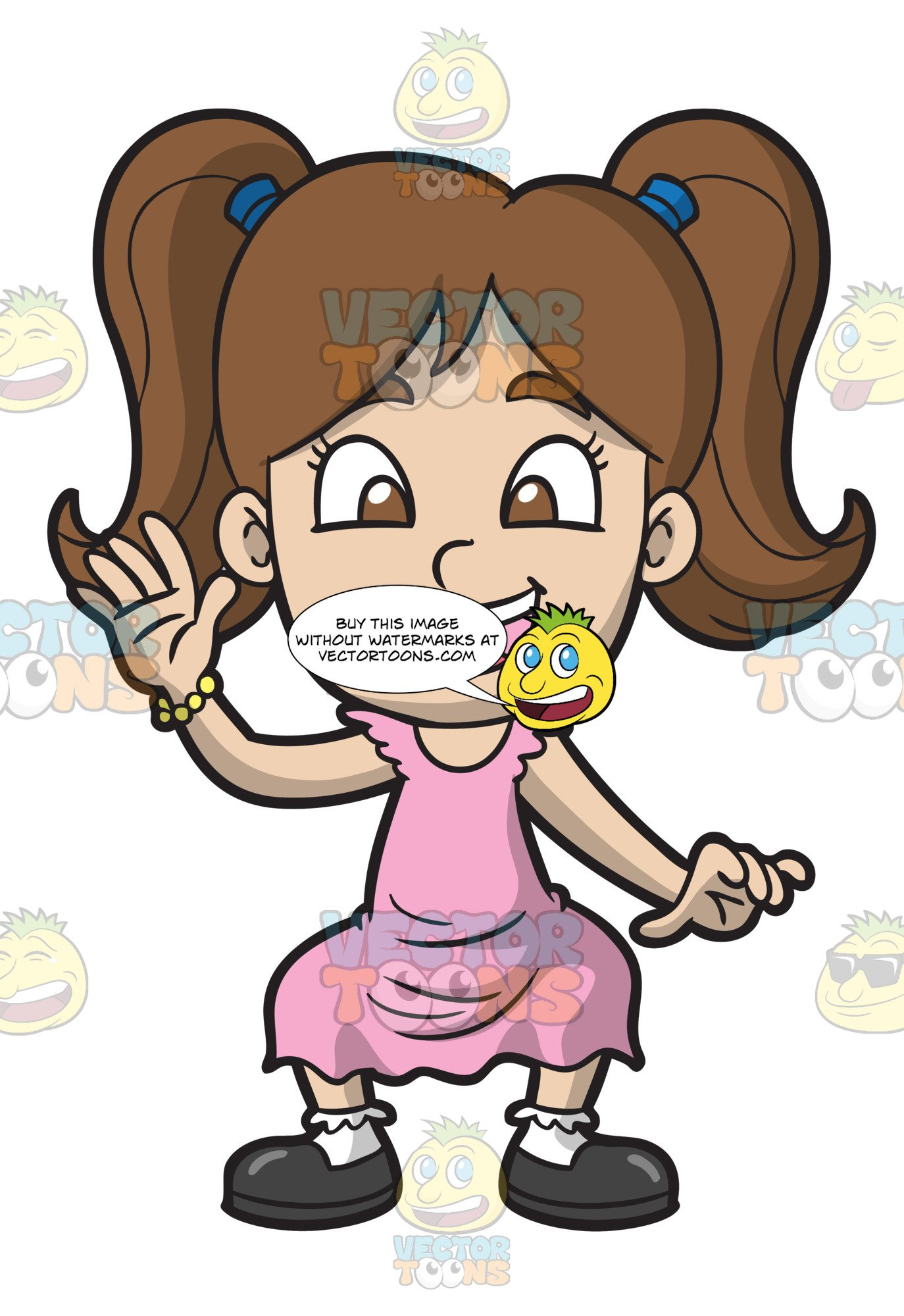 clip transparent library A happy girl dancing. Whip clipart comic