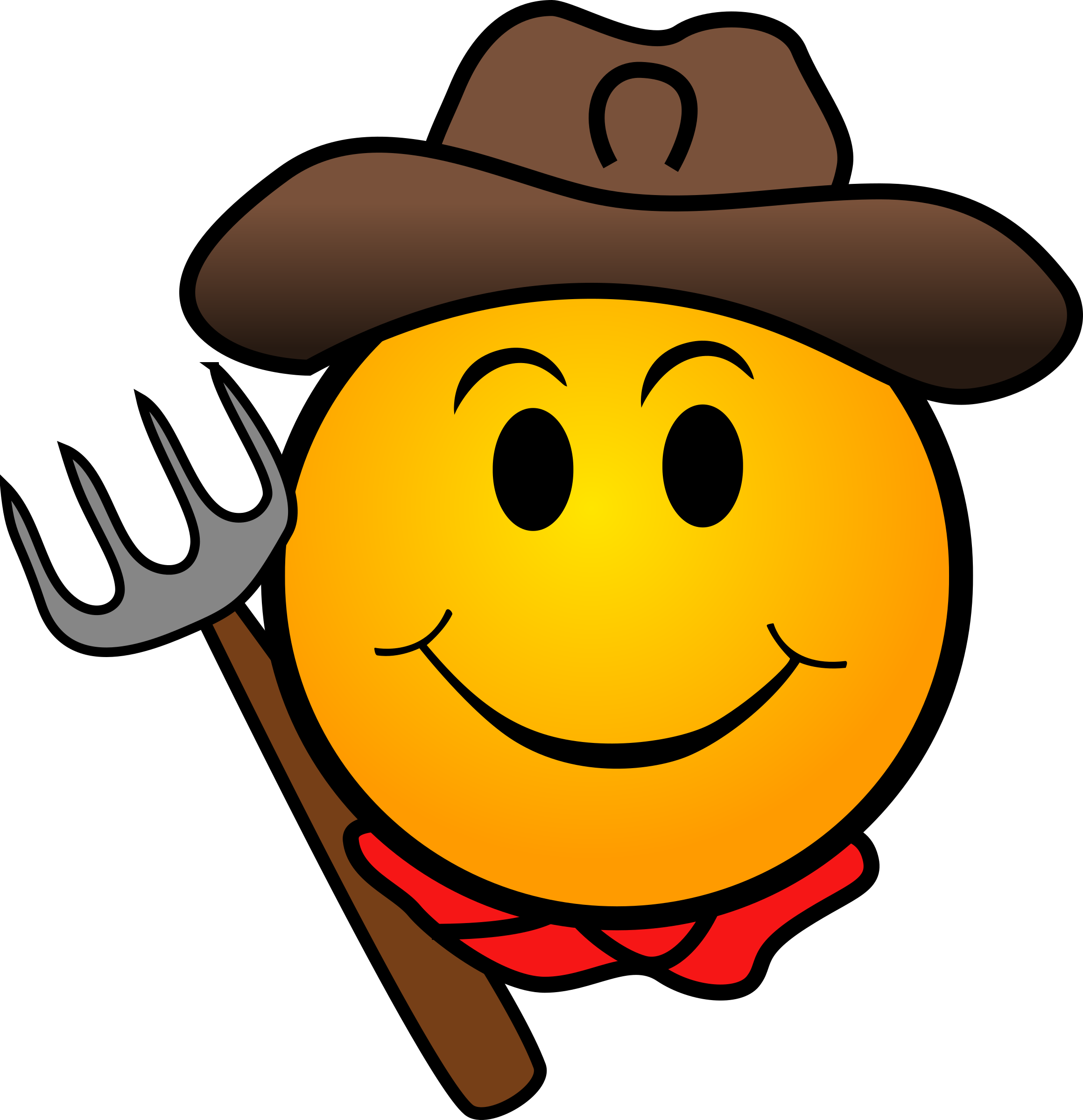 jpg royalty free Farmer smiley big image. Whip clipart emoticon
