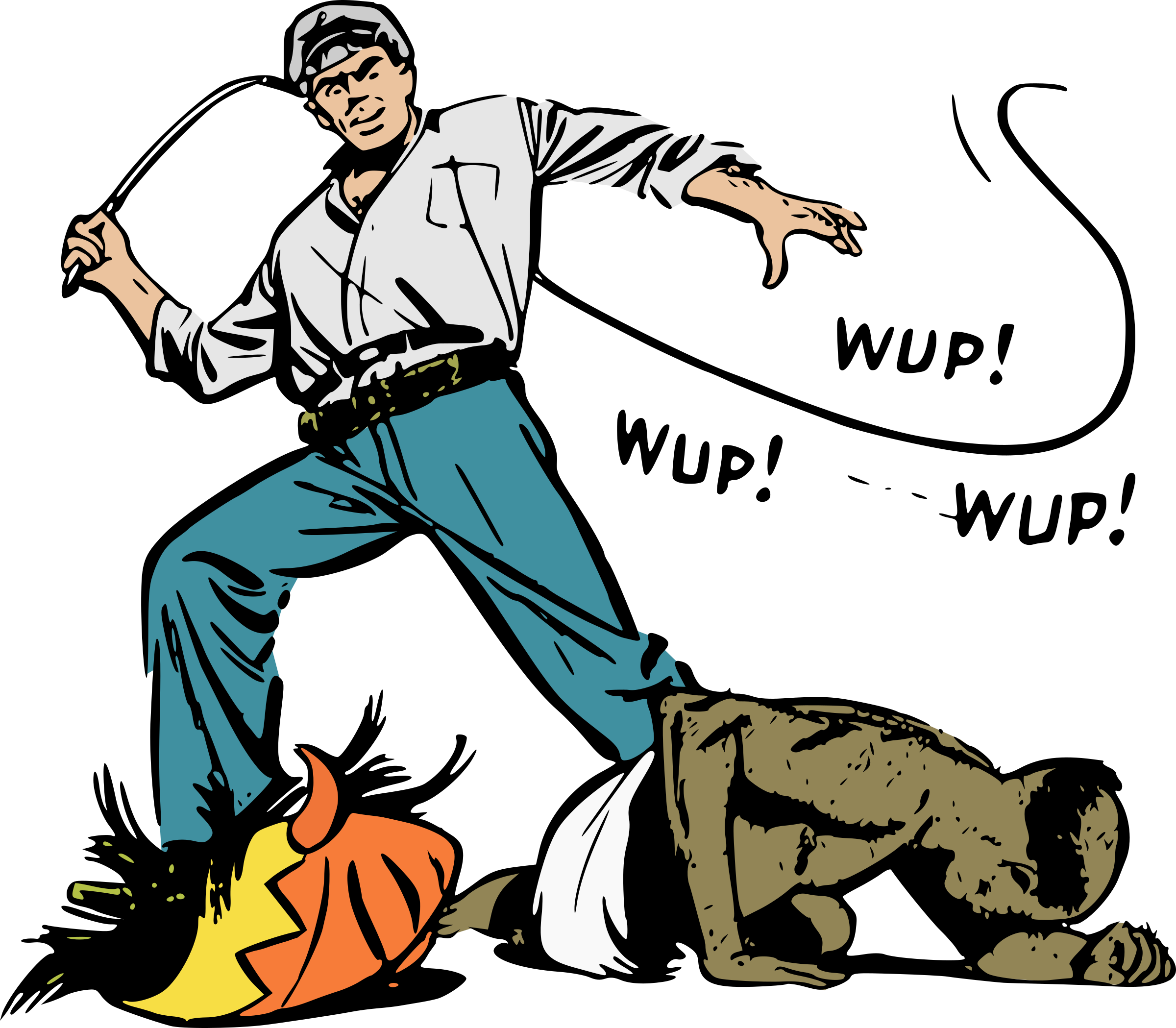 vector royalty free Ivory trader whipping old. Whip clipart man