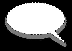 free download Speech bubble reverse clip. Whisper clipart