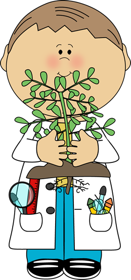 vector library library Boy scientist with plant. Whisper clipart bad kid